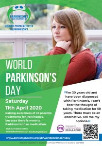 World Parkinson's Day poster and raise awareness of Parkinson's in your local area