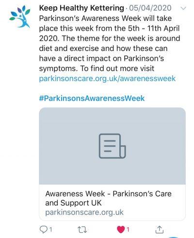 Parkinson's Awareness Week