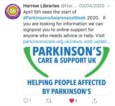 Tweet for Parkinson's Care & Support