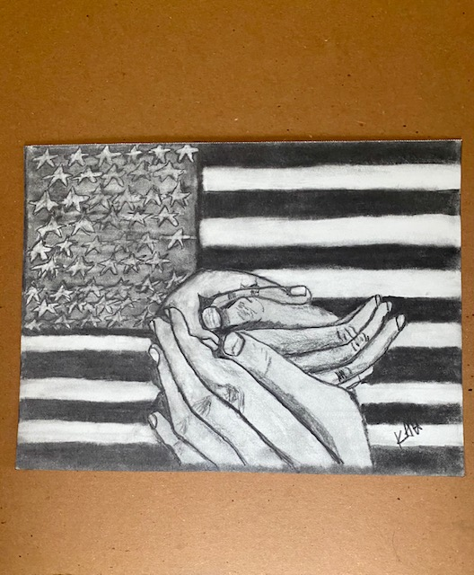 Nation in Turmoil Pencil Sketch